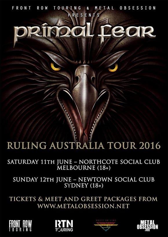 PRIMAL FEAR RULING AUSTRALIA IN 2016!