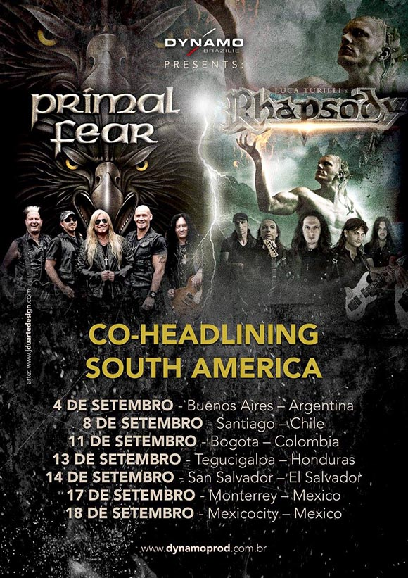 NEW SOUTH AMERICAN TOUR 2016!