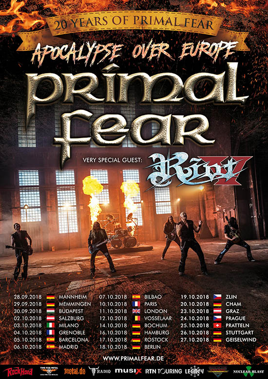 "PRIMAL FEAR ""Apocalypse over Europe"" tour announced!"