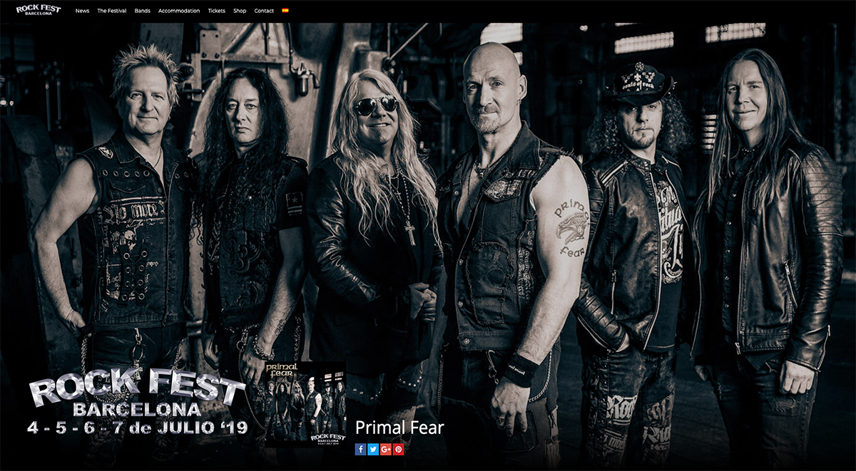 Primal Fear confirmed on Rock Fest Barcelona 2019