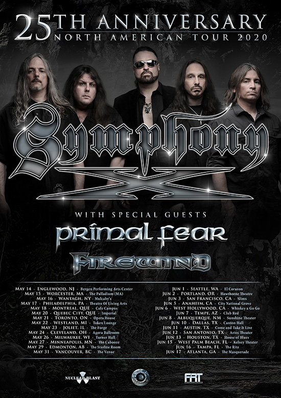Primal Fear will be back in the USA & Canada in 2020