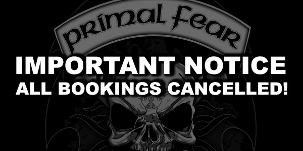IMPORTANT UPDATE: All shows booked for 2021 and 2022 cancelled!